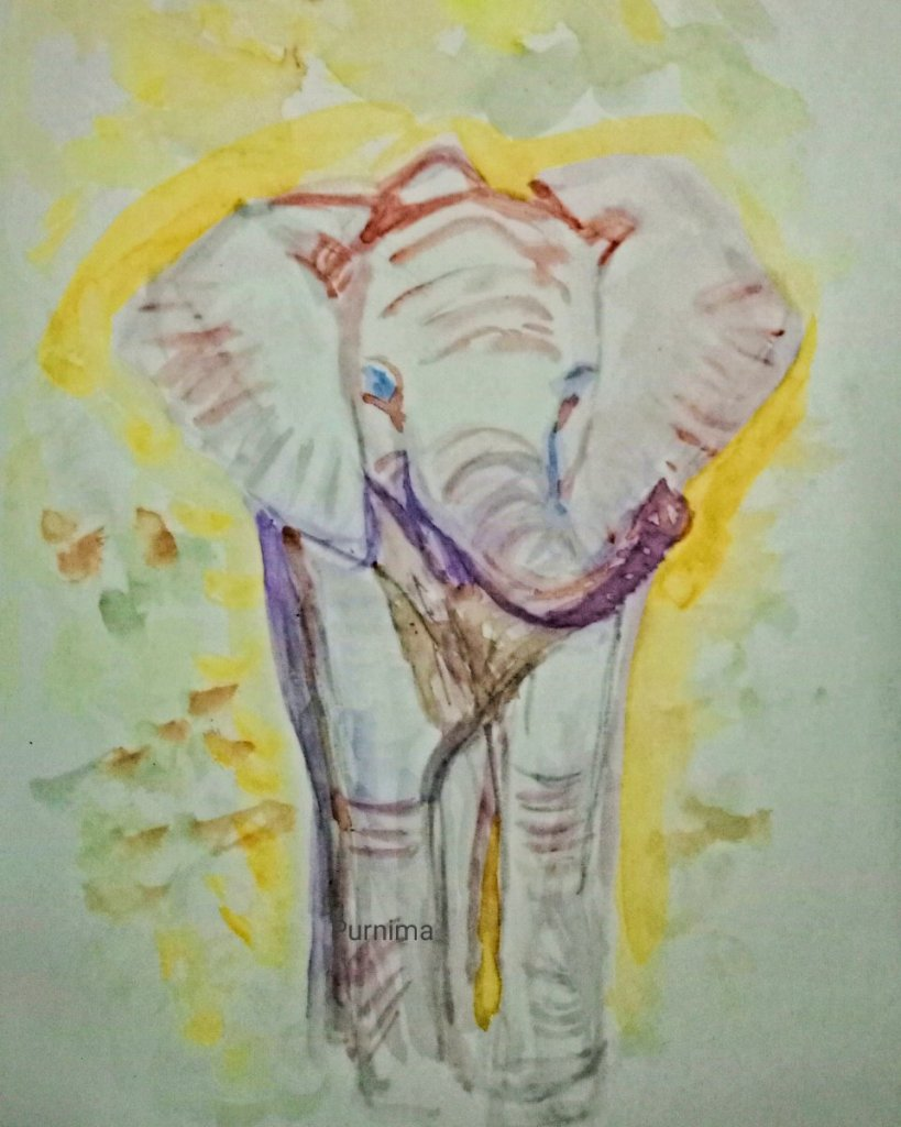 Baby Elephant for #doodlewashaugust2021 .this one is yet to be finished,but I chose to post it as it