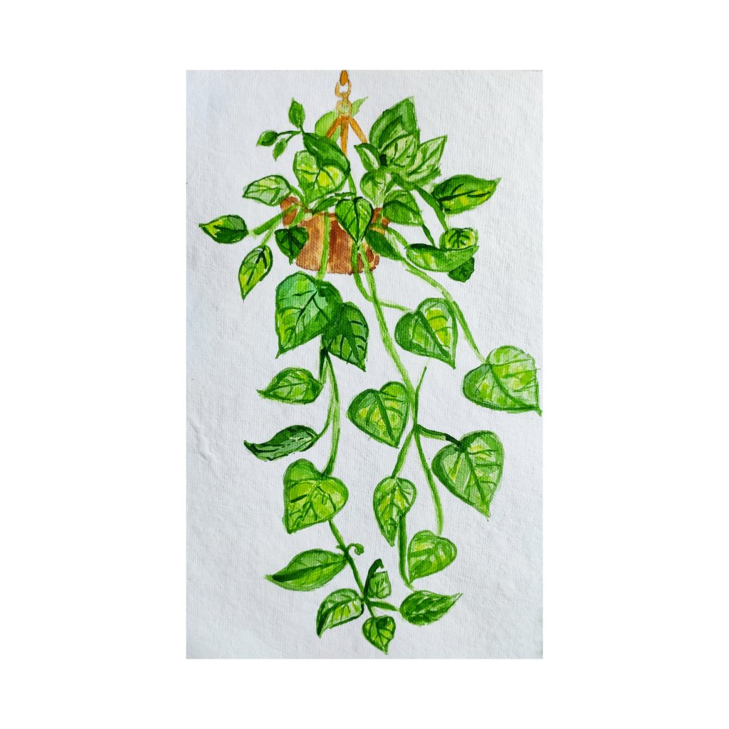 Day7: ivy I always loved to paint leaves and flowers because I love them so much. I am happy with ho