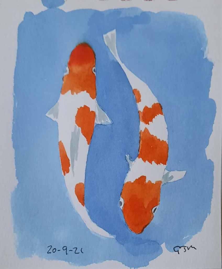 #doodlewashseptember2021 Day 20 Fish. #worldwatercolorgroup 20210920_201219