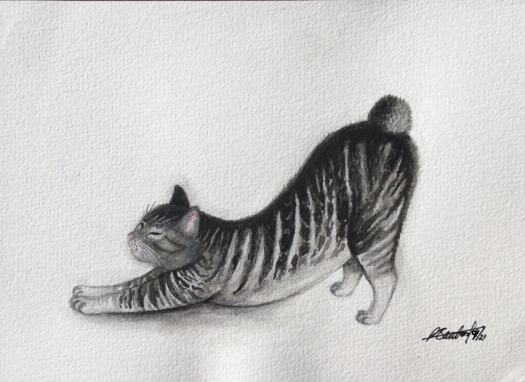 Day 1: Kitty Sorry I joined a bit late so my posts will be back dated. Hope it'll be ok. #doodlewa
