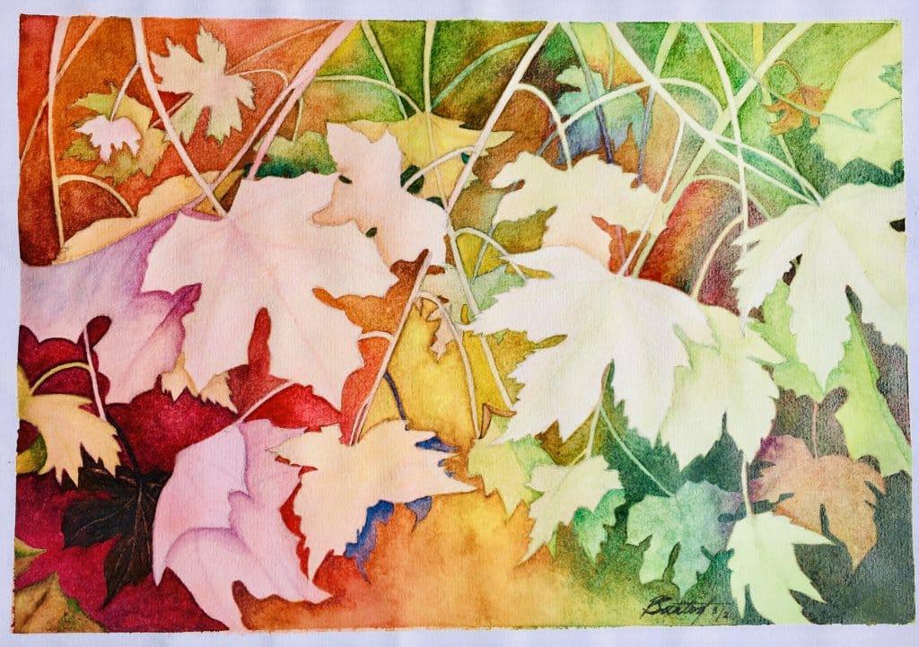 Day 2: Leaf In my case, leaves for all seasons. A293AB13-0779-4BDB-B2CC-7726B5154B56
