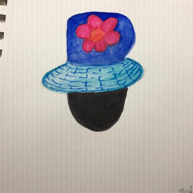 #doodlewashseptember2021 cupcakes, hat, ballet shoes for the ballerina(I don't do people well