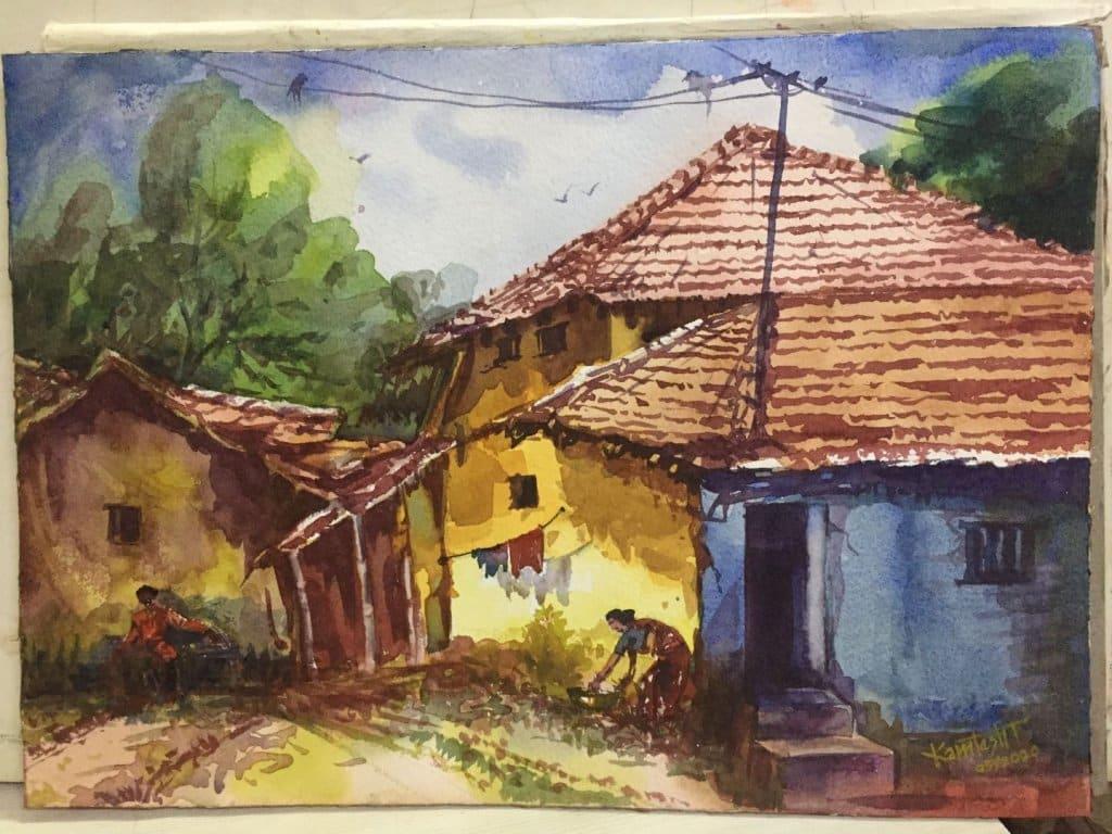 Watercolor on HM Paper Landscape – Watercolor on HM Paper