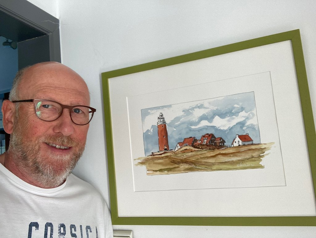 Framed and ready to be shipped to the customer Roland_lighthouse