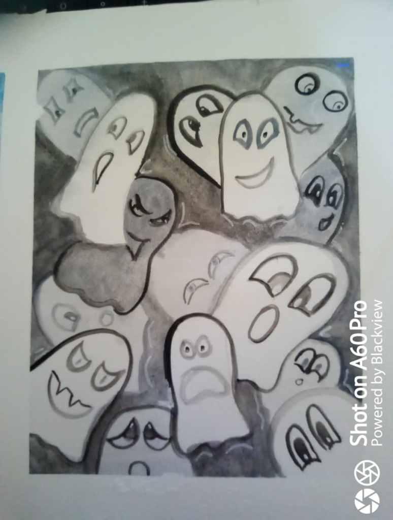 #doodlewashoctober2021 Thème : Ghost 245052999_10226479025266891_7787718270507833323_n