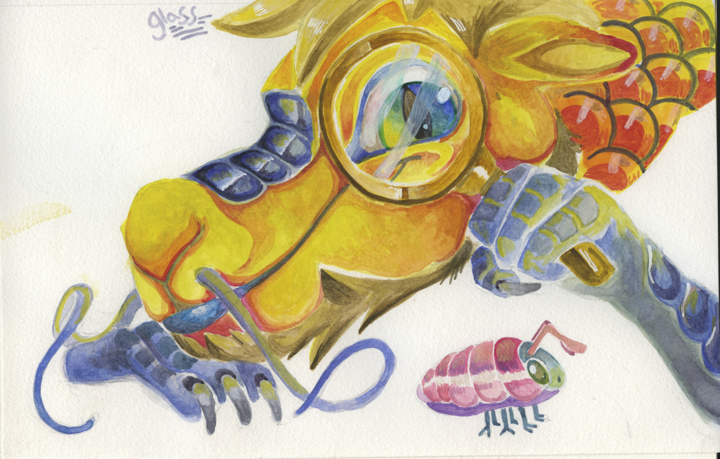 """In true art challenge fashion, this entry for the watercolor challenge """"glass"""" is a day"""