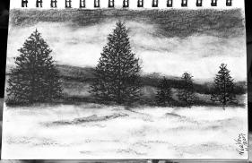 Water washes in Charcoal