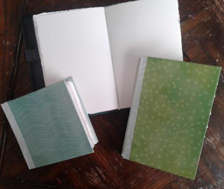 Handmade watercolor journals