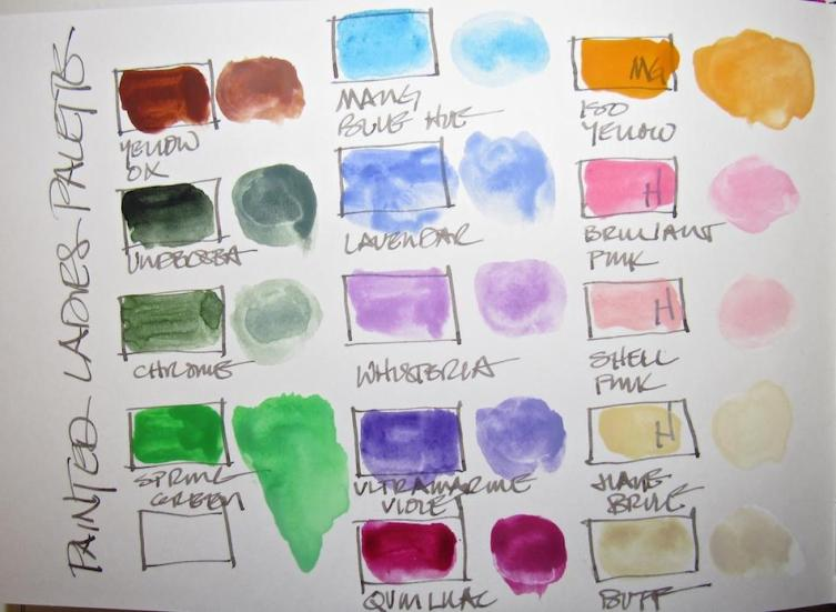 The palette and when I mix a bit of white...