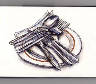 My Favorite Kitchen Utensil - #WorldWatercolorGroup Cutlery