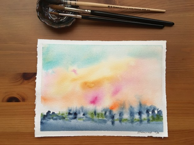 Qor high chroma and earth set of 6 watercolors in a 12 well jack richeson porcelain palette, watercolor painting by jessica seacrest