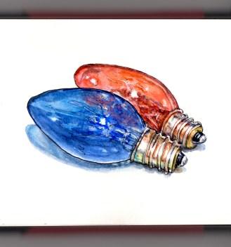 Day 13 - Holiday Lights vintage Christmas light bulbs string