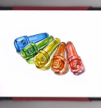 Day 3 - #WorldWatercolorGroup Educational Toy Lite-Brite pegs vintage toys retro