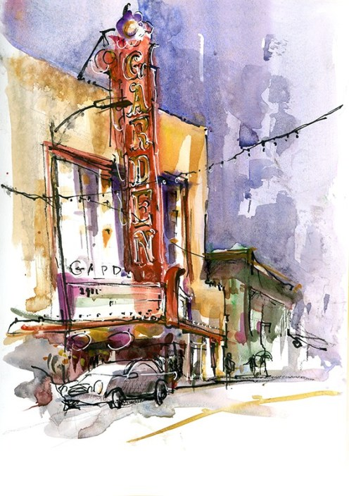 Vintage Signs In San Jose, California by Suhita Shirodkar - vintagesignsanjose.com - #urbansketchers #usk - #doodlewash