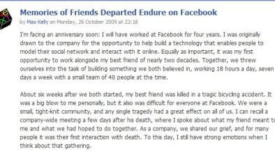 facebook memorialized profile obituary