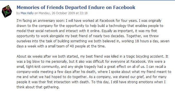 facebook memorialized profile obituary