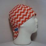 Orange and White Chevrons Welding Cap