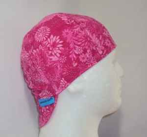 Pink Flowers Welding Cap