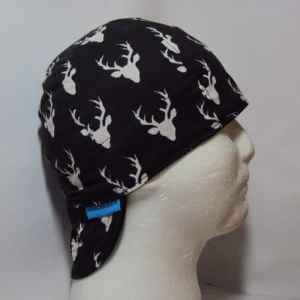 Black Big Buck Welding Cap