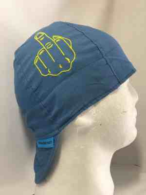 Embroidered Middle Finger Welding Cap