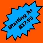 Starting At $17.95