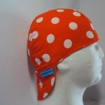 Polka Dots White On Orange Welding Hat