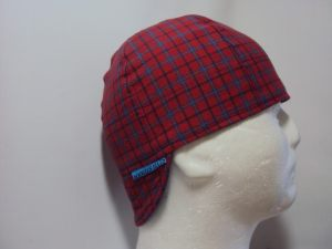 Red And Blue Plaid Welding Cap