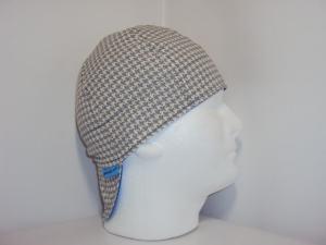 Gray/White Houndstooth Welders Hats