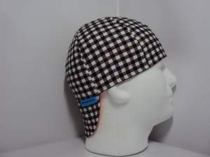 Black And White Check Welding Hats