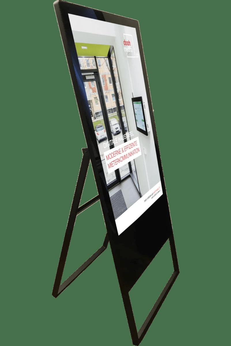 Digitale Stele Werbeanzeige doohmedia Hochformat
