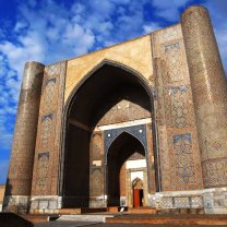 Beautiful Entrance Gate Of The Bibi Khanym Mosque