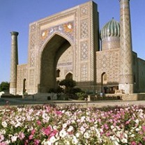 Samarkand, Registan square, general view