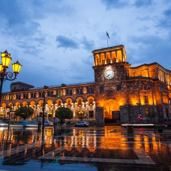 Republic Square after Shower