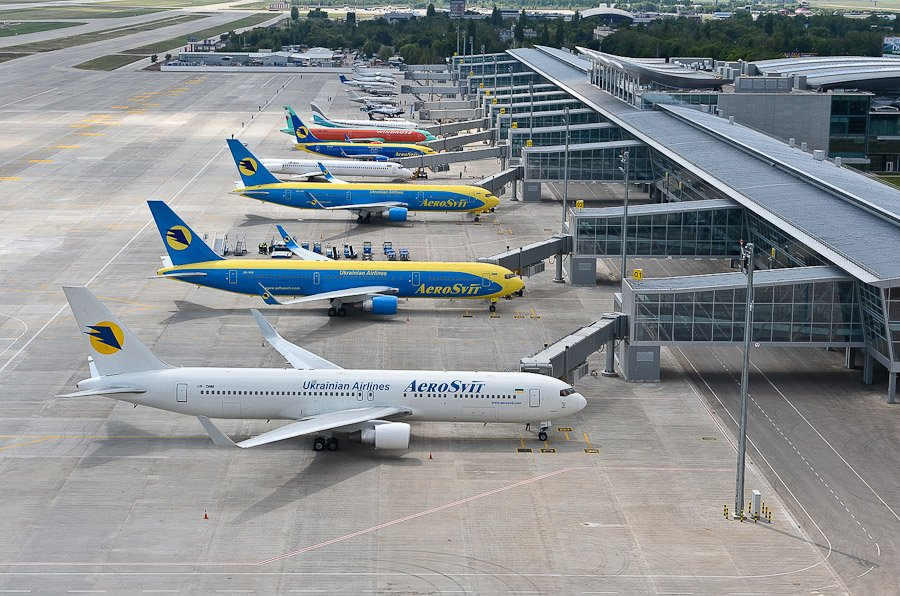 Aircraft on Kiev Airport