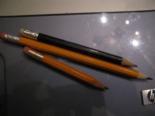 Pencil-stubs
