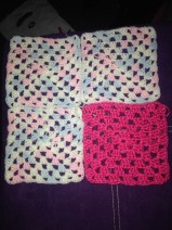 The pink throw blanket