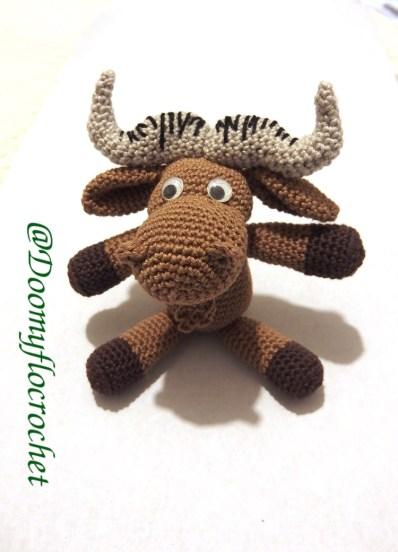 GNU LInux amigurumi gnou