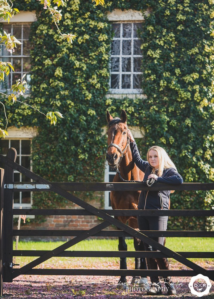 A portrait shoot in Cheshire with Katie and her Dutch Warmblood Mare