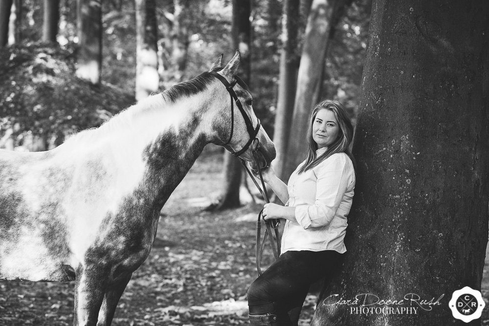 portrait of a girl and her horse