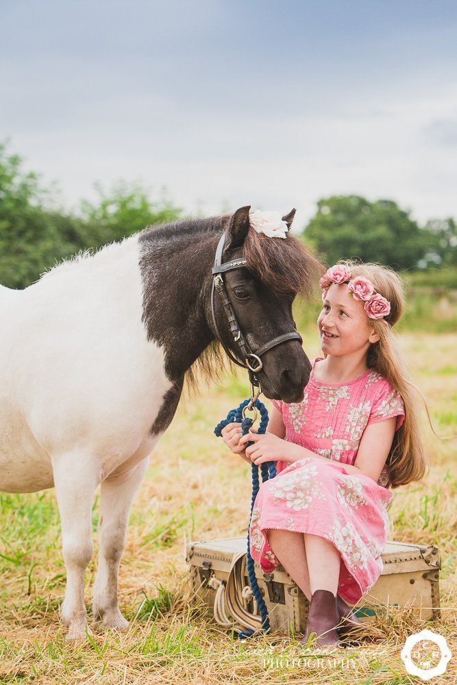 a girl and her pony