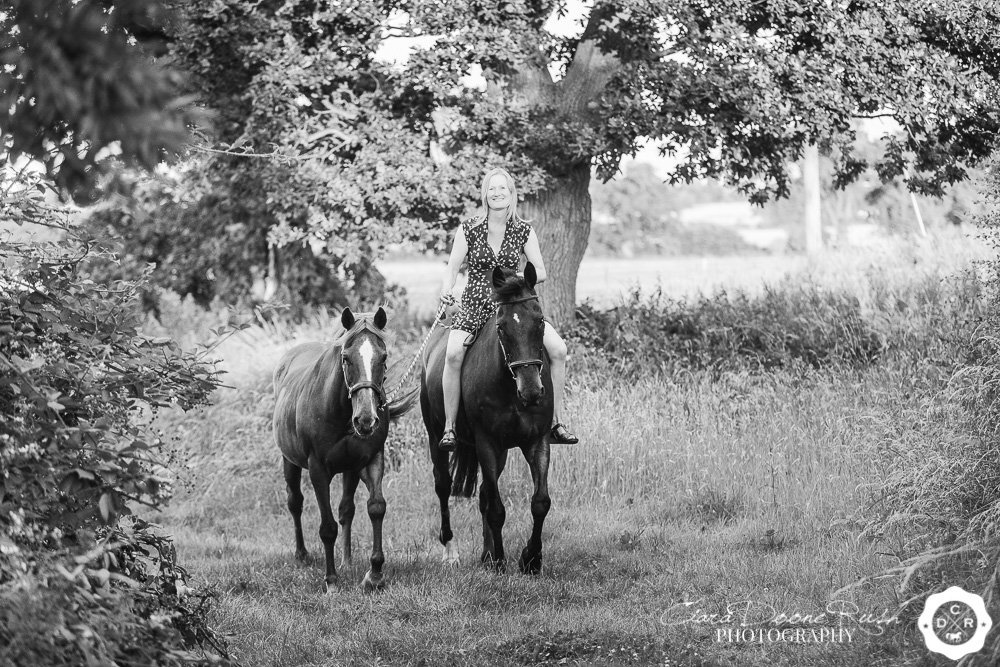 an equine photo shoot with two horses