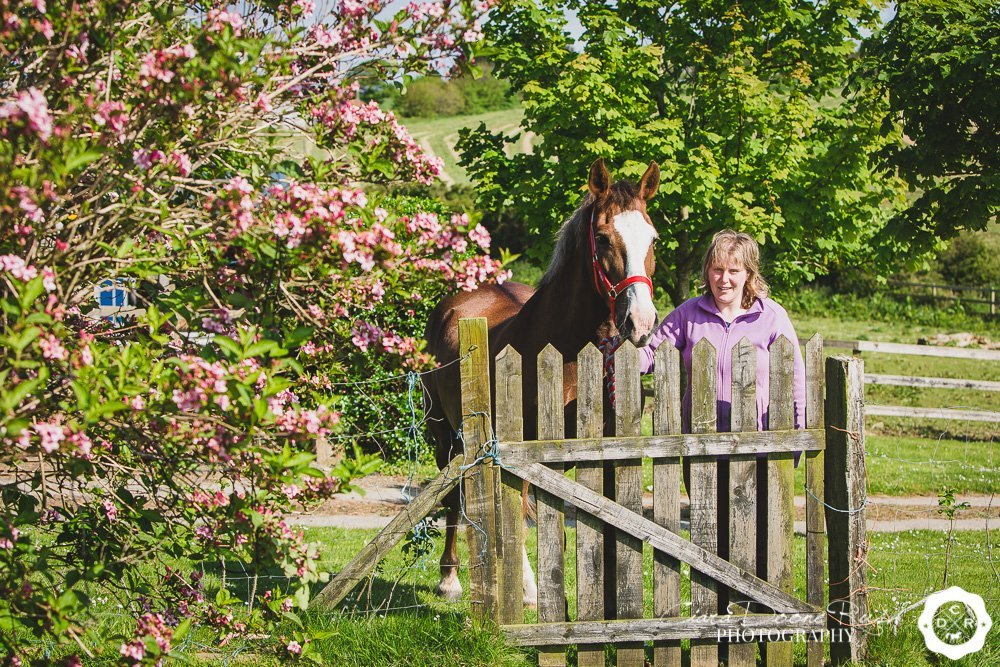 horse and rider photo shoot in spring in ireland
