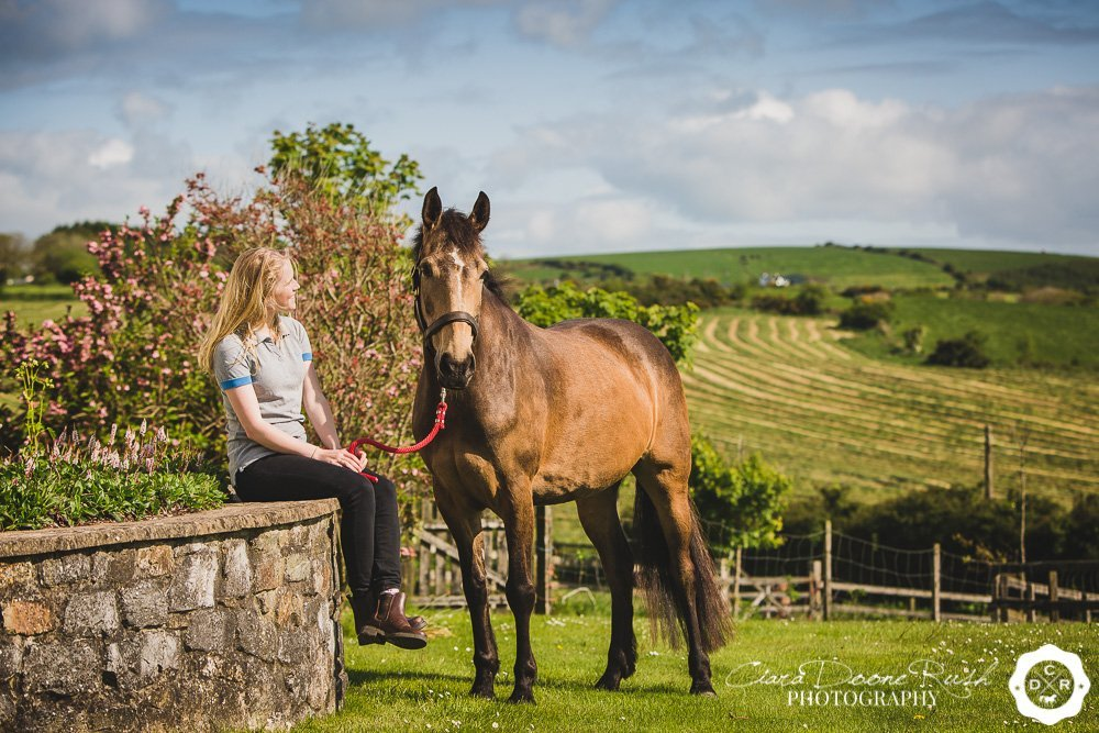 a girl and her horse in ireland