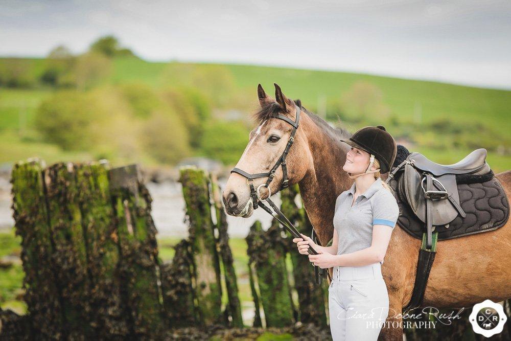 pony and rider photo shoot cork