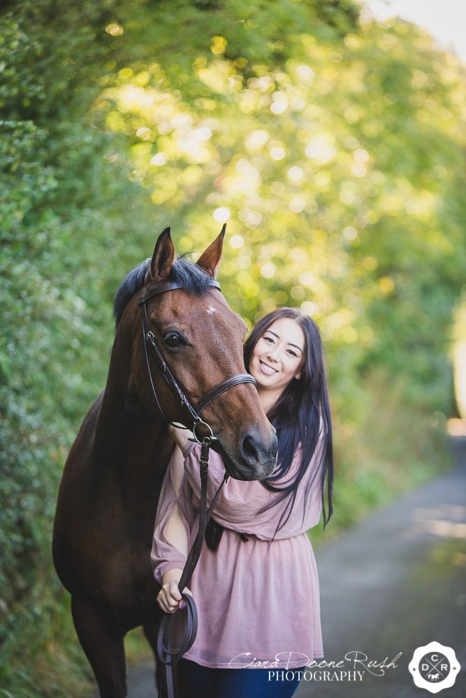 horse and rider in knowsley
