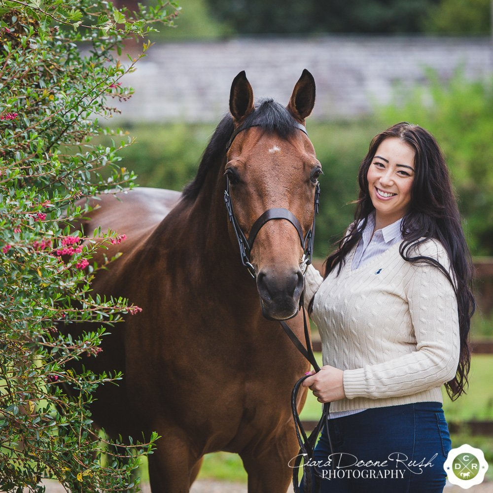 autumn horse and rider photo shoot