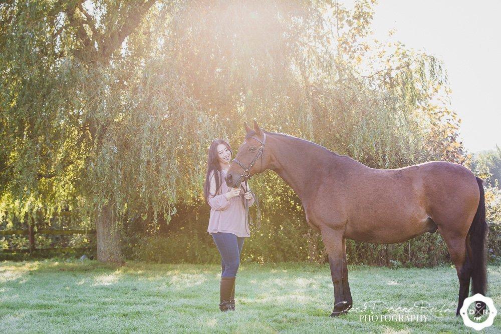 a sunny autumnul photo shoot
