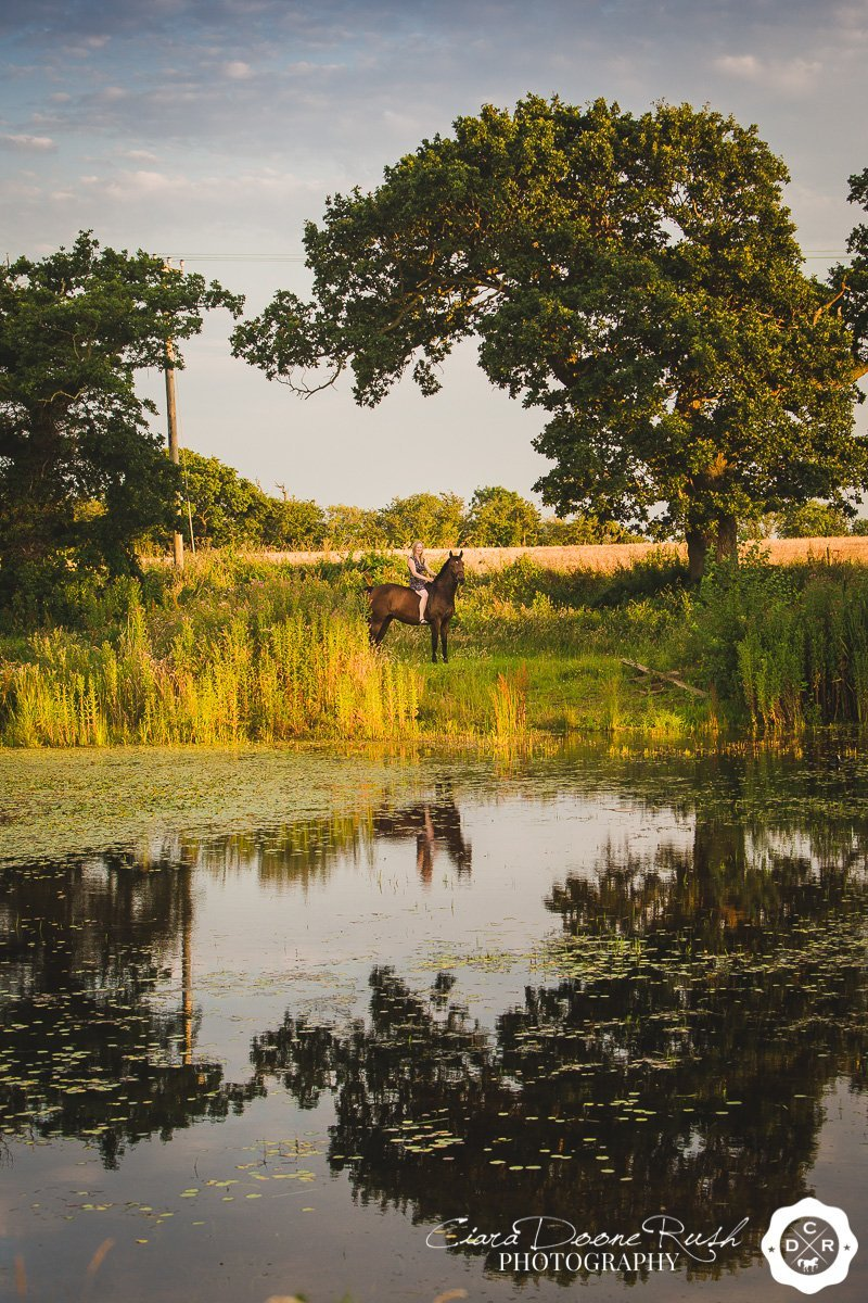on location near chester for a Horse and rider photo shoot