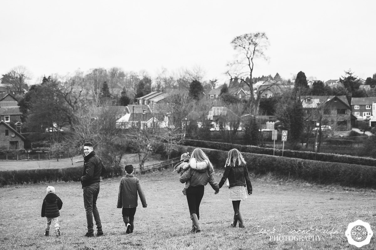 a photo shoot overlooking Audlem