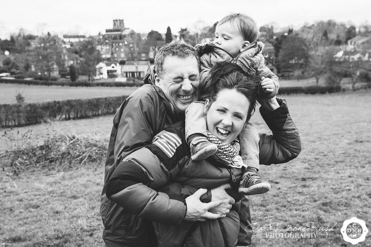 a spring family photo shoot